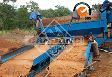 Gold mini dredge equipment for wet washing plant for sale