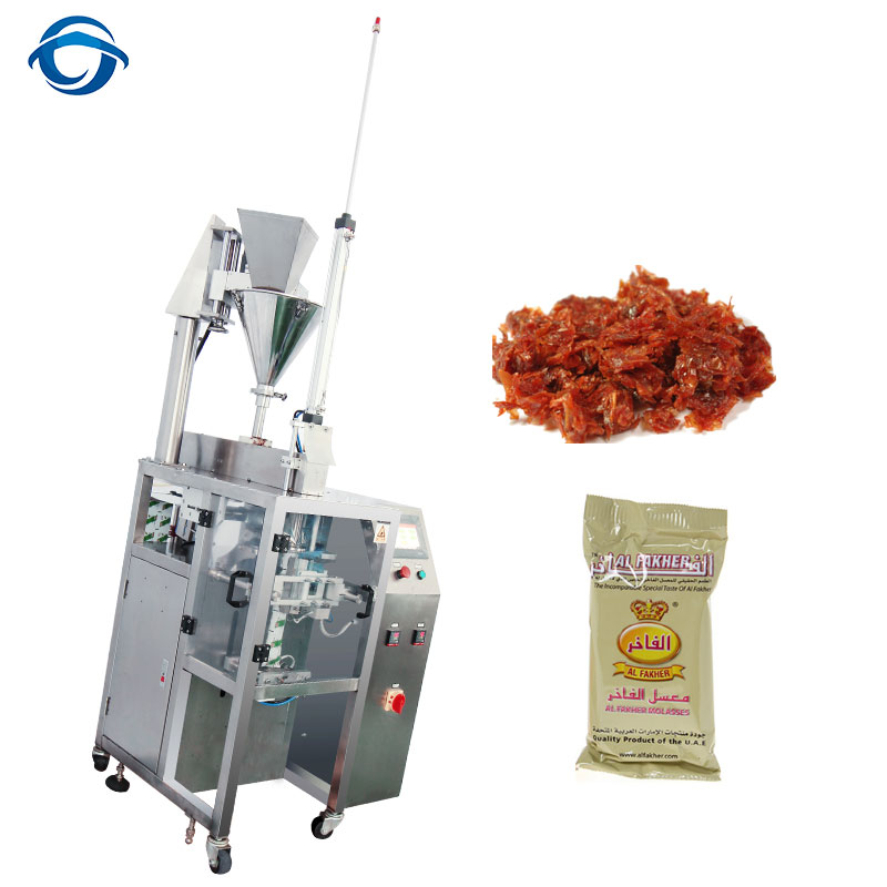 Automatic 250g 500g Molassed Shisha Tobacco Pouch Packing Machine