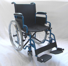 Lightweight aluminum folding wheelchair with CE and ISO cetificate