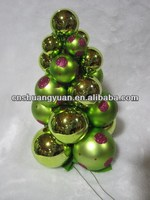 christmas hanging ornament plastic grape ball string ,painted ball