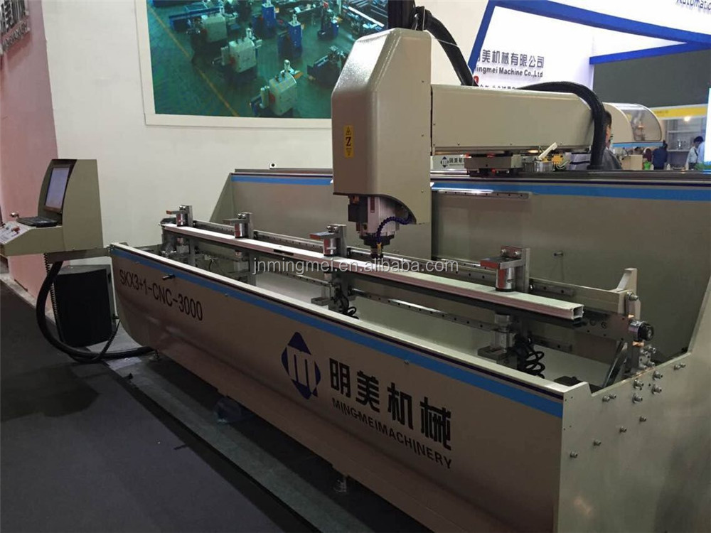 2017 Discount!!! Mingmei Factory Supply Hot sale aluminum window CNC Four head corner combining machine with CE