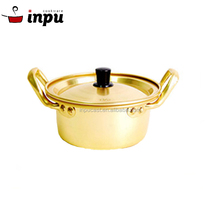 High - quality Outdoor Yellow Aluminum Cooking Stock Pot