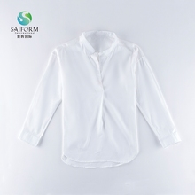 White ladies all-match casual long sleeved shirts