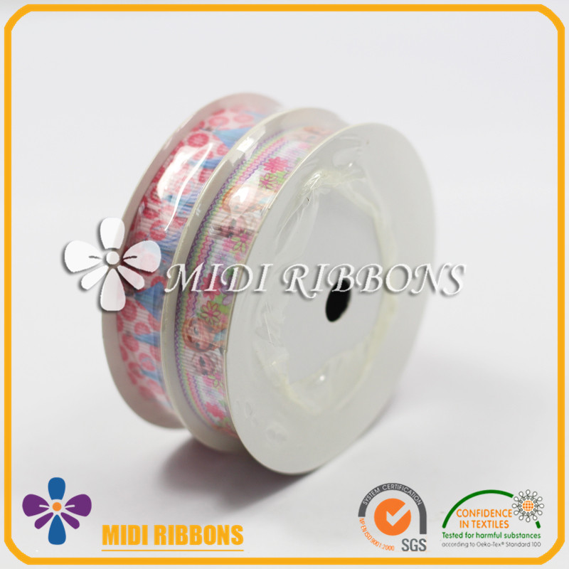 High quality custom printed ribbon ,Blister Packaging grosgrain ribbon celebrate it ribbon for garment accessories