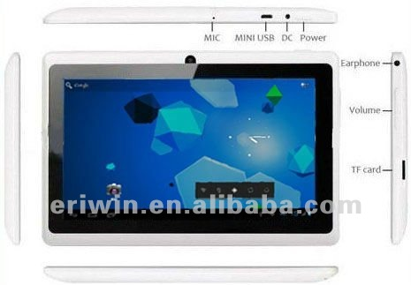 ZX-MD7001 Top quality 7 inch Android 4.0 MID Q88 Allwinner A13 Capacitive Screen+Camera+WIFI Q8 Tablet PC 512MB 4GB in stock
