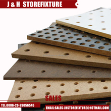 Melamine faced decorative hardboard pegboard MDF pegboard