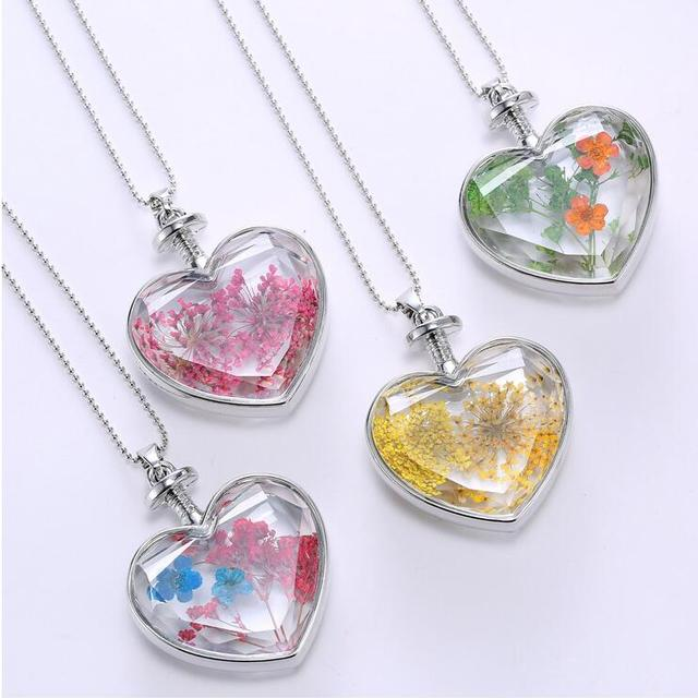 YX163 Jewelry fashion necklaces pure handmade necklace natural plant dried flower specimen pendant necklace
