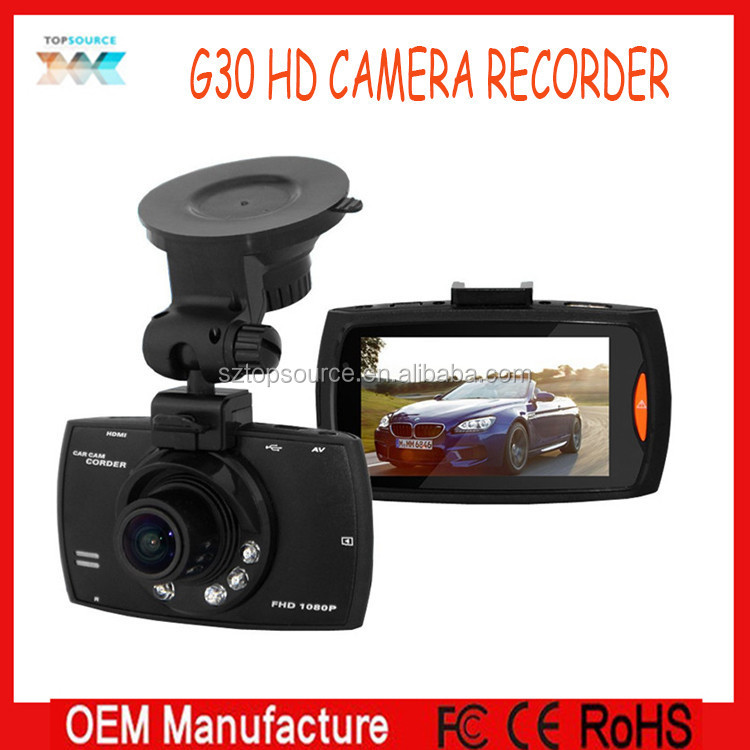 2015 Lowest Cost Small vehicle full hd carcam video camera recorder g30 car dvr rycling recorder black box for sos and real-time
