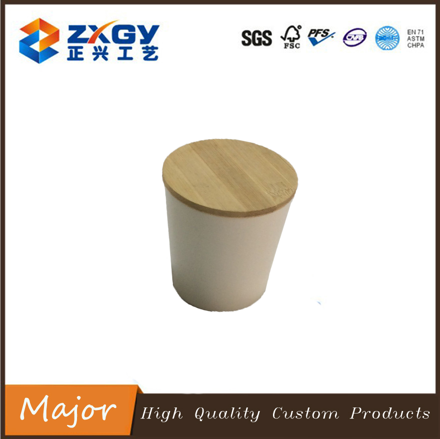 Hot seling natural circle bamboo wooden lid for candle or candies jar/cup
