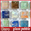 clear iridescent glass pebble mosaic chips