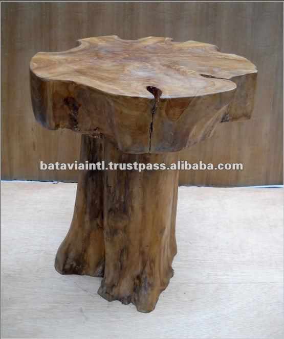 High Quality Rustic Mushroom Wooden Stool
