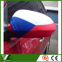 advertising flying car side mirror cover and car wing flag