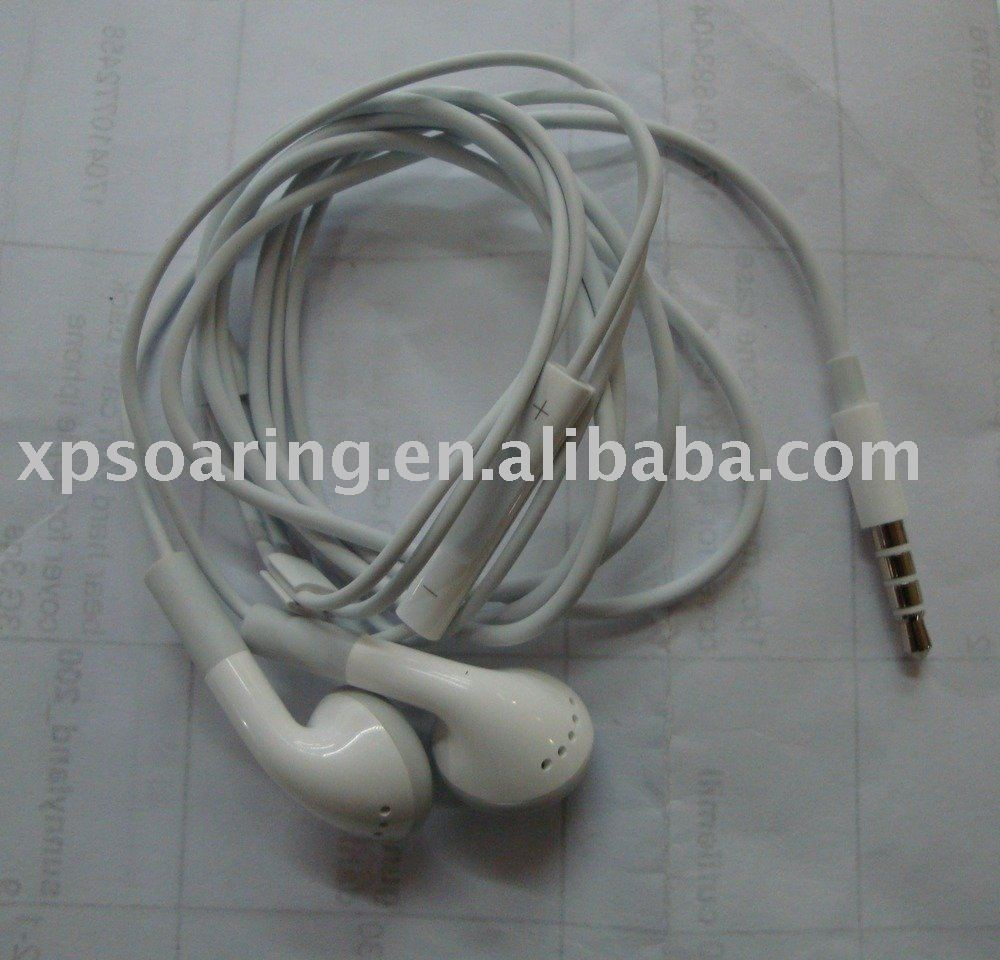 earphone with volume control and Mic for iphone 3GS, 3G