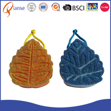 Customized factory price dishwashing scrubber compressed foam magic maple leaf shaped customer's design cleaning sponge