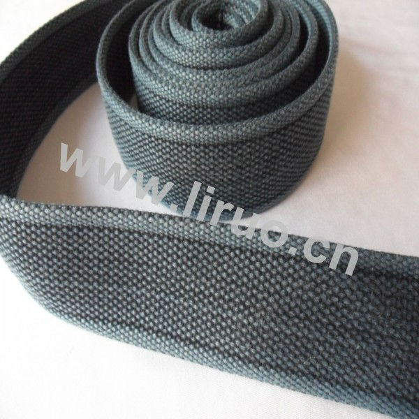 Custom poly-cotton wash webbing for belt