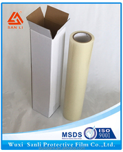 self-adhesive clear plastic film/glass projection film/carpet protection