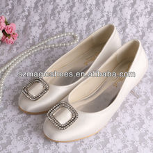 Bridal Flat Crystal Wedding Shoes
