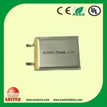 Top quality 12V lipo battery/ 3.7v 400mah lithium polymer rechargeable battery for solar led lighting, hands free segway