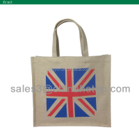 zhejiang customized laminated jute promotional bags