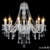 24-Lights Luxury Large Contemporary Lobby Crystal Chandeliers for Hotel