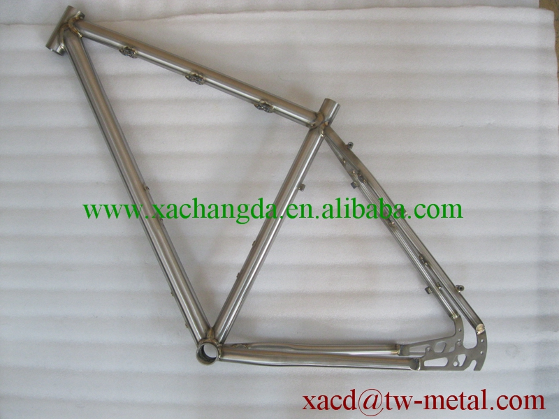 titanium mtb bike frame with weld color custom titanium bike frame mountain bike frame with weld color