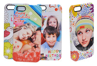3D Film Sublimation customized cell phone cover case for Iphone 4/4s/5/5s/5c