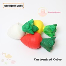 Promotion Pu Stress Stretch Soft Squishy Radish Vegetable Toy Ball