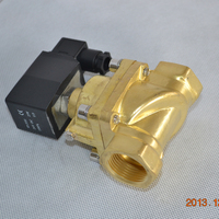 NPT thread natural gas solenoid fuel valve 12v