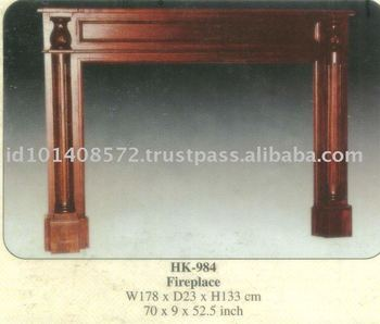 Fire Places Asseccories Mahogany Indoor Furniture.