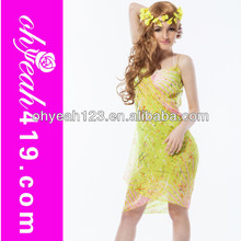 Gambar casual dress for beach party ladies summer long dress chiffon new style