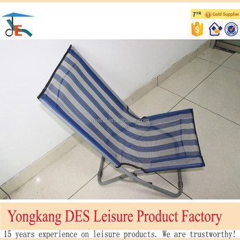Factory Direct Offer Net Cloth Folding Beach Chair with No Arms