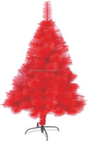 Red color artificial christmas tree colorful decoration christmas tree factory price wholesale PE/PVC/PET christmas trees