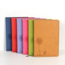 Cheap promo a 5 elastic cover notebook with silk screen printing custom logo