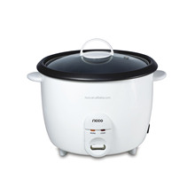 White electric drum rice cooker in 1.0L/1.5L/1.8L