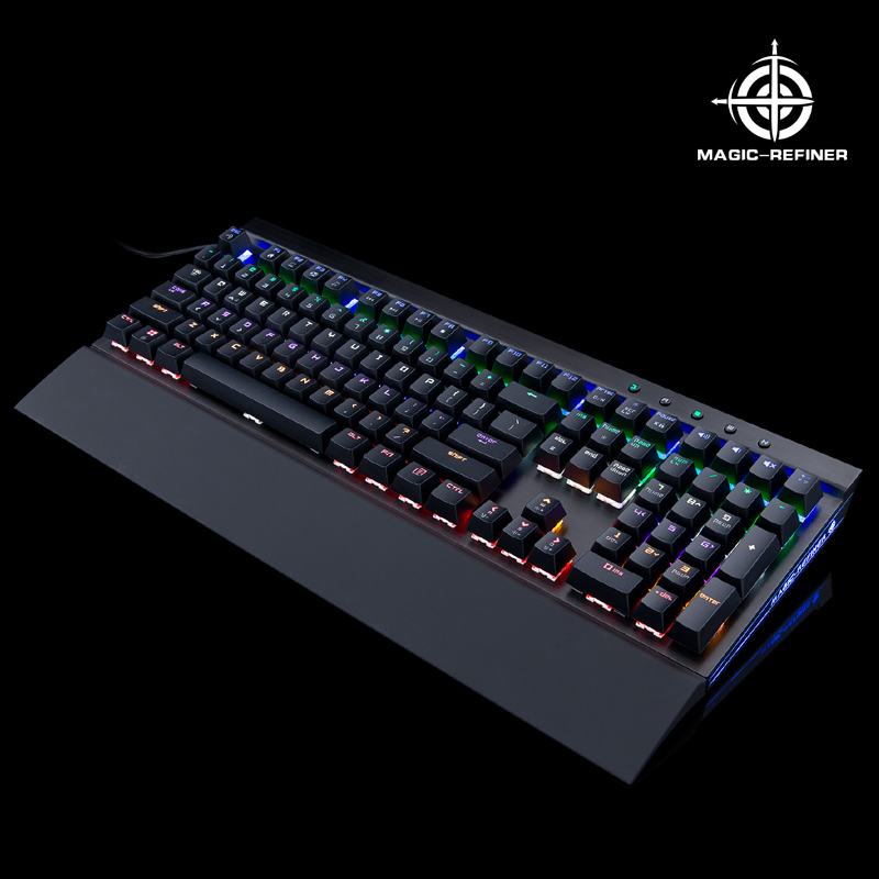 Alibaba Wholesale Professional Gaming mechanical keyboard with rainbow backlight