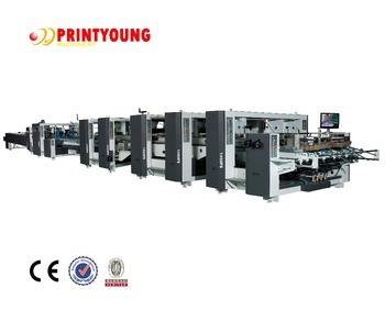FH Series large 5 ply corrugated box folding gluing machinery