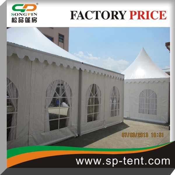 Custom Made Metal Frame White Wedding pagoda tent 5x5m for Sale
