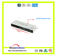 Blueendess 3 Ports USB 3.0 Hub Multi Function Aluminum Card Reader Support SD/XD/MS/CF/TF Card With DC Adapter