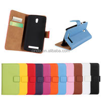 Genuine Leather Stand Wallet Case Flip Cover Protector For HTC Desire 500