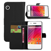 Litchi PU Leather Case Wallet Flip Case for Wiko Ozzy