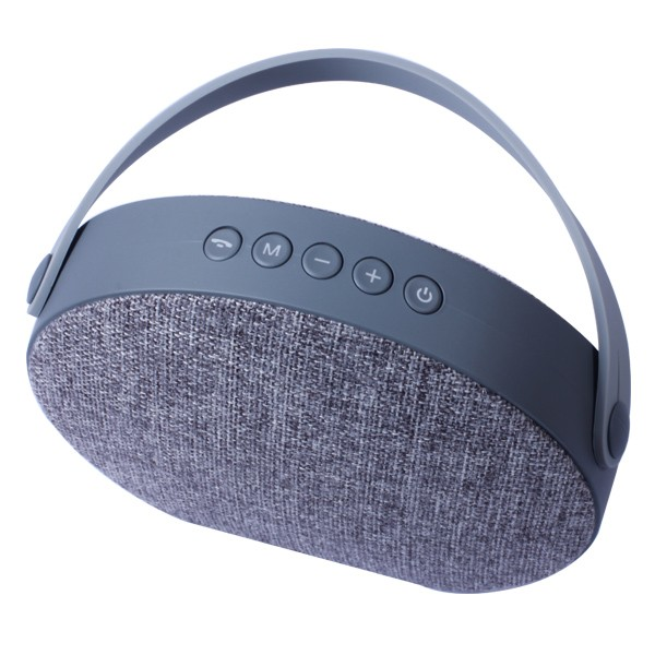 round portable wireless fabric bluetooth speaker