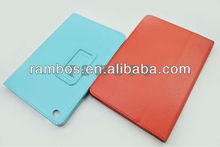 For iPad mini Book Fold Stand Design Holder Flip case