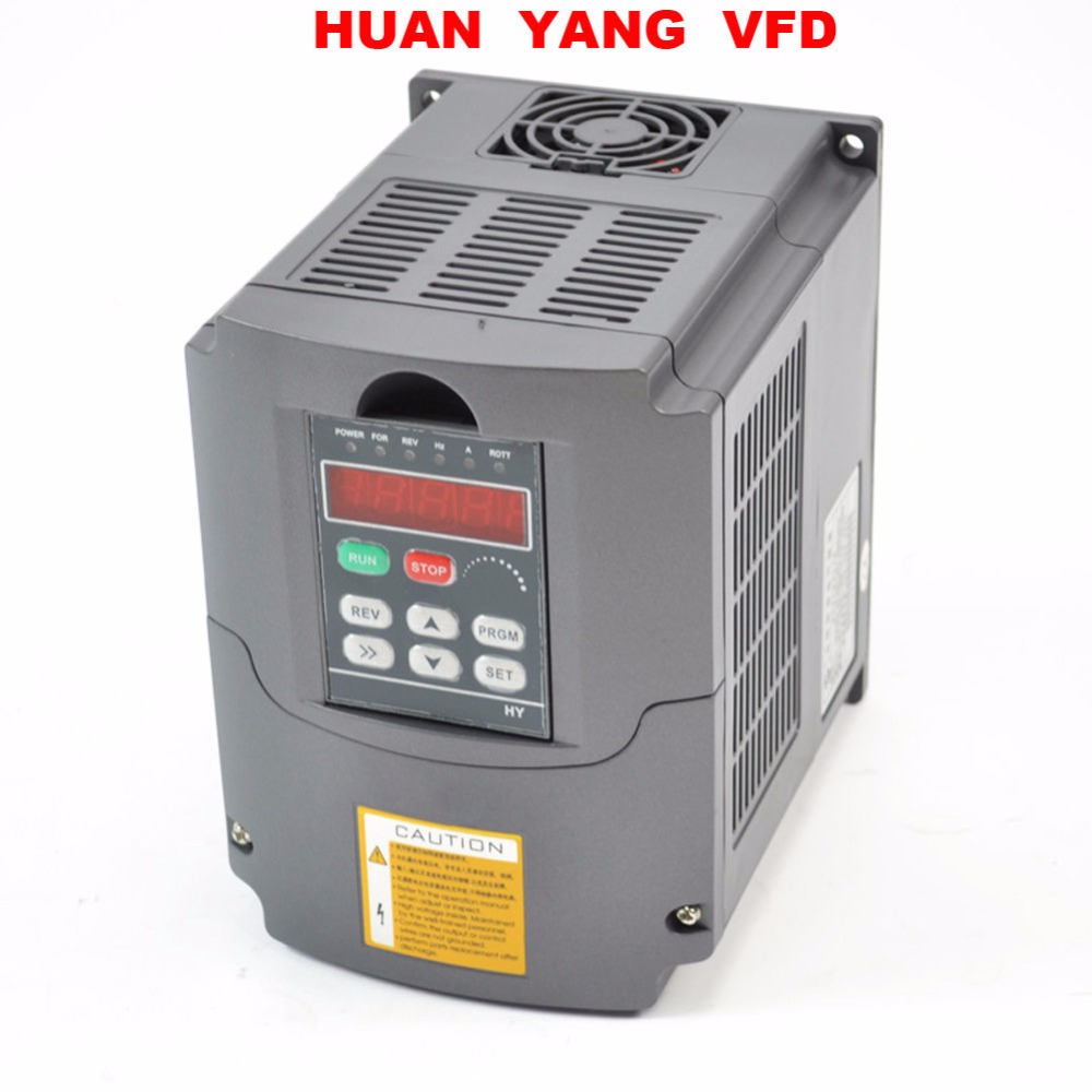 Updated Variable Frequency Drive Inverter VFD 220V 4KW 5HP Huanyang RS485 AVR