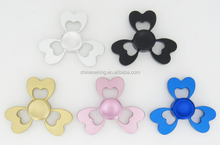 new design dollar clover various shape metal finger spinners toys rainbow color aluminium hand spinner relax toys gifts