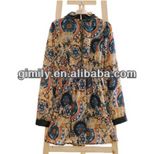 Lady's printed pictures semi formal dresses african dress design