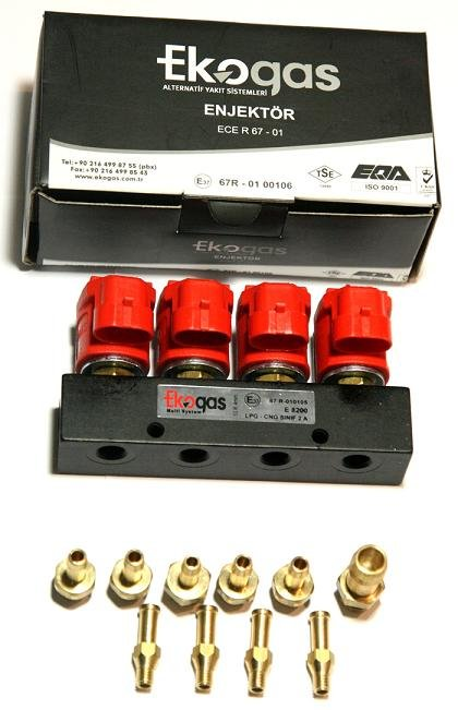 EKOGAS LPG Autogas Injectors 4-cylinder (for SGI Sequential Injection System)