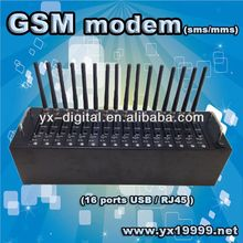 gsm cdma usb modem Q2303/Q2403/Q2406/Q24plus Wavecom 16 port gsm modem pool