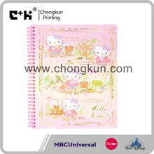 BSCI / NBCU / Sedex audit gaming high quality hot cartoon spiral notebook