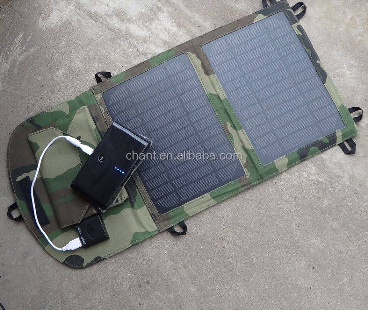 10 w portable solar panel charger charging treasure mobile power supply double USB output
