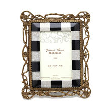 2016 new style brass mosaic photofuaia fine porcelain mosaic picture frames for wedding photo frame